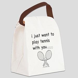 tennis_tr Canvas Lunch Bag