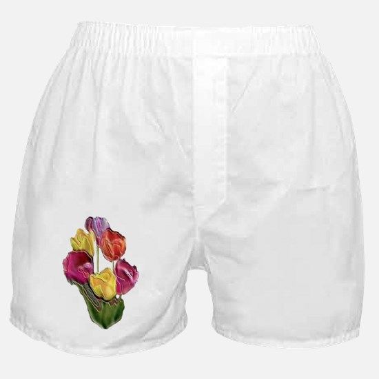 ENAMEL TULIPS BOTTLES Boxer Shorts