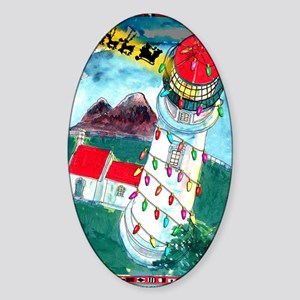 2-8315_lighthouse_cartoon Sticker (Oval)