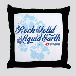 RockSolid-Hibiscus-WhiteShirt Throw Pillow