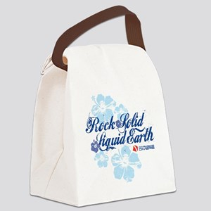 RockSolid-Hibiscus-WhiteShirt Canvas Lunch Bag