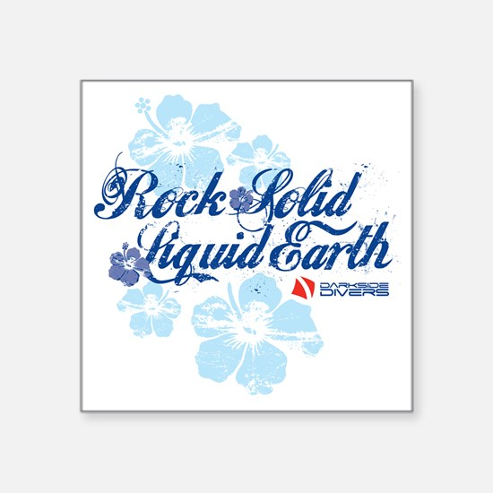 "RockSolid-Hibiscus-WhiteShi Square Sticker 3"" x 3"""