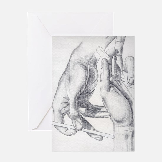 Artists Hands Greeting Card