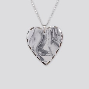 Artists Hands Necklace Heart Charm