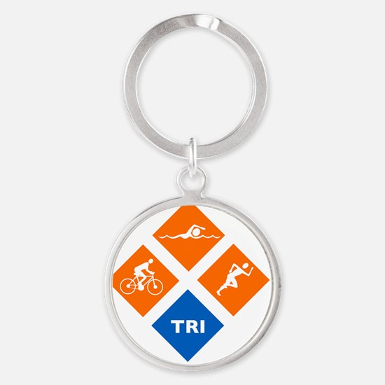 triw Round Keychain