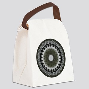 Wheel of Life Mandala Canvas Lunch Bag