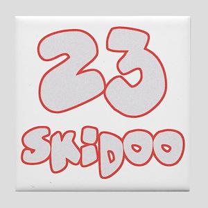 23 Skidoo Tile Coaster
