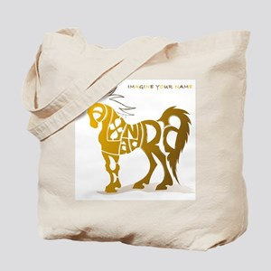 Alexandra gold and brown horse Tote Bag
