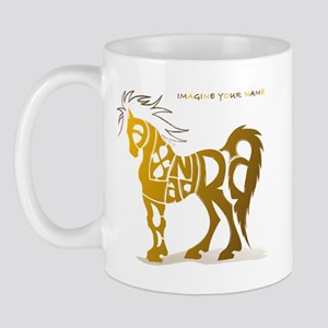 Alexandra gold and brown horse Mug