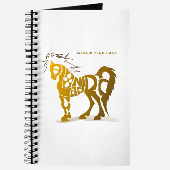 Alexandra gold and brown horse Journal