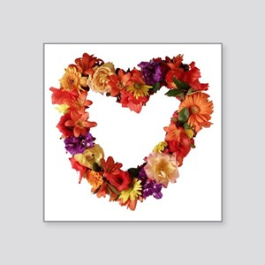 "heart_of_flowers_photo Square Sticker 3"" x 3"""