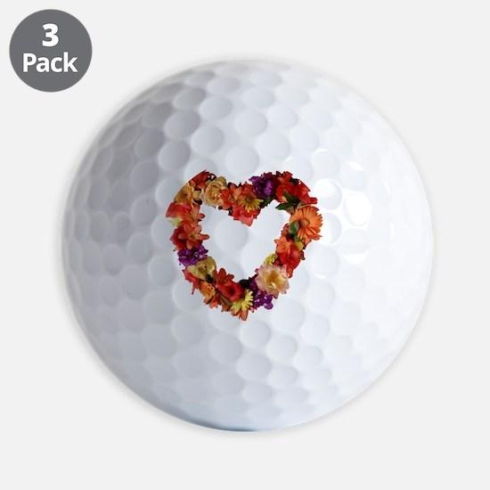 heart_of_flowers_photo Golf Ball