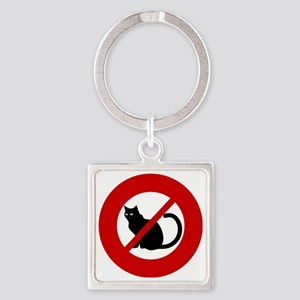 no-cats Square Keychain