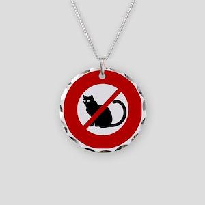 no-cats Necklace Circle Charm