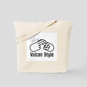 10x10 Love_Vulcan_Style_BW Tote Bag