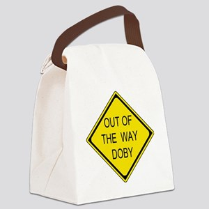 2-Out of the Way Doby Canvas Lunch Bag