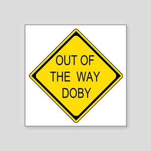 """2-Out of the Way Doby Square Sticker 3"""" x 3"""""""