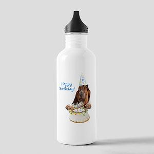 Basset Birthday Tshirt Stainless Water Bottle 1.0L