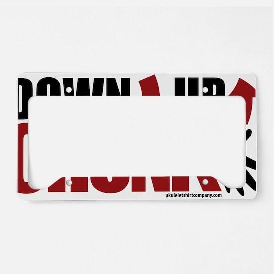 Ukulele Chunk License Plate Holder