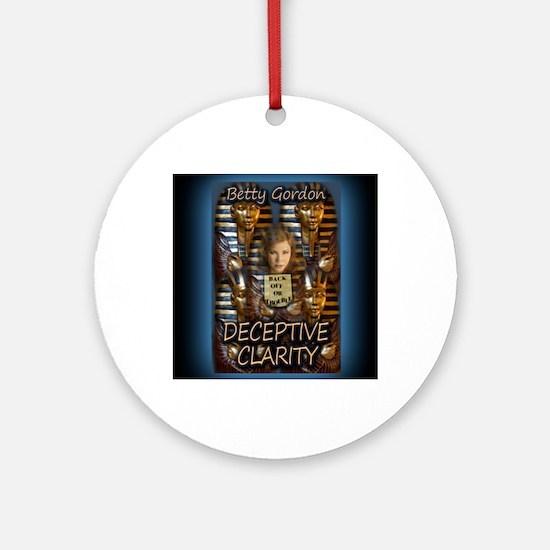 Deceptive Clarity Notecard Round Ornament