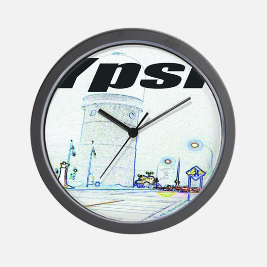 ypsiwatertower2 for shirts Wall Clock