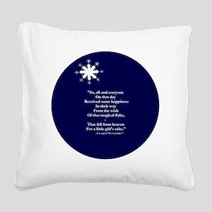 Snow ending 16b 10x10  Square Canvas Pillow