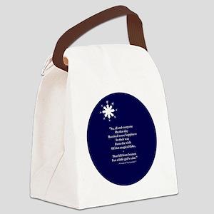 Snow ending 16b 10x10  Canvas Lunch Bag
