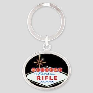 RIFLE LIGHT Oval Keychain