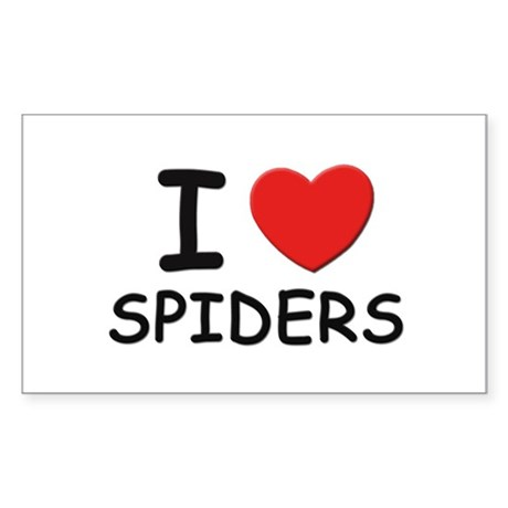 I love spiders Rectangle Sticker