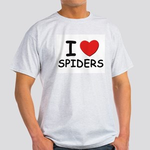 I love spiders Ash Grey T-Shirt
