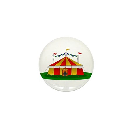 Circus Tent Mini Button & Circus Gifts u0026 Merchandise | Circus Gift Ideas u0026 Apparel - CafePress