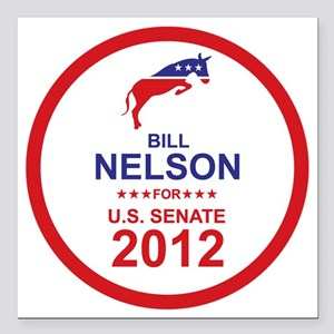 """2012_bill_nelson_main Square Car Magnet 3"""" x 3"""""""