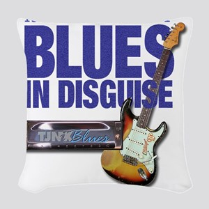 Blues In Disguise for Lite Ite Woven Throw Pillow