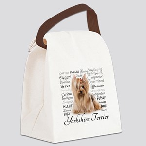 Yorkie Traits Canvas Lunch Bag