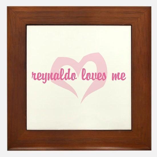 """""""reynaldo loves me"""" Framed Tile"""