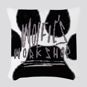 paw02 Woven Throw Pillow