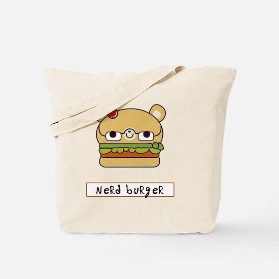 nerd burger - white - front Tote Bag