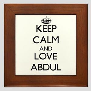 Keep Calm and Love Abdul Framed Tile