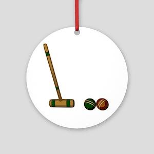 Croquet Game Ornament (Round)