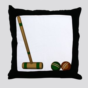 Croquet Game Throw Pillow