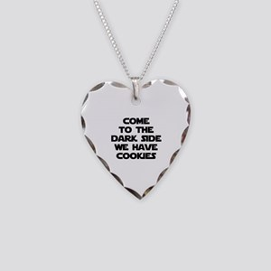 Come To The Dark Side Necklace Heart Charm