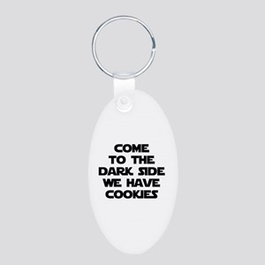 Come To The Dark Side Aluminum Oval Keychain