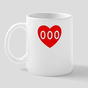 2-192b-heart-blk Mug