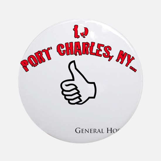 Port Charles Hitchhiker Round Ornament