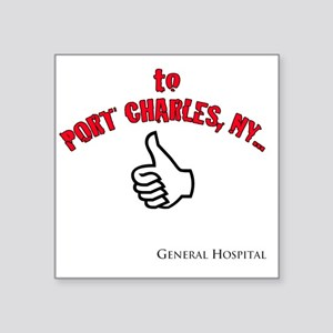 "Port Charles Hitchhiker Square Sticker 3"" x 3"""