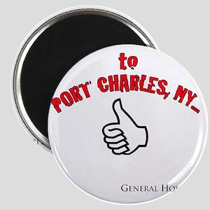 Port Charles Hitchhiker Magnet
