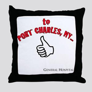 Port Charles Hitchhiker Throw Pillow