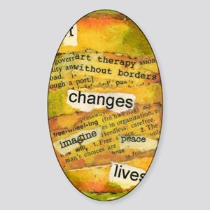 ATCMalchiodiArtChanges Sticker (Oval)