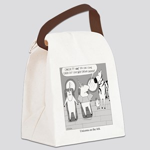 Unicorns on the Ark Canvas Lunch Bag