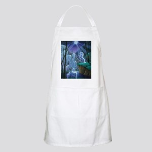 Unicorns in the Moonlight large poster Apron